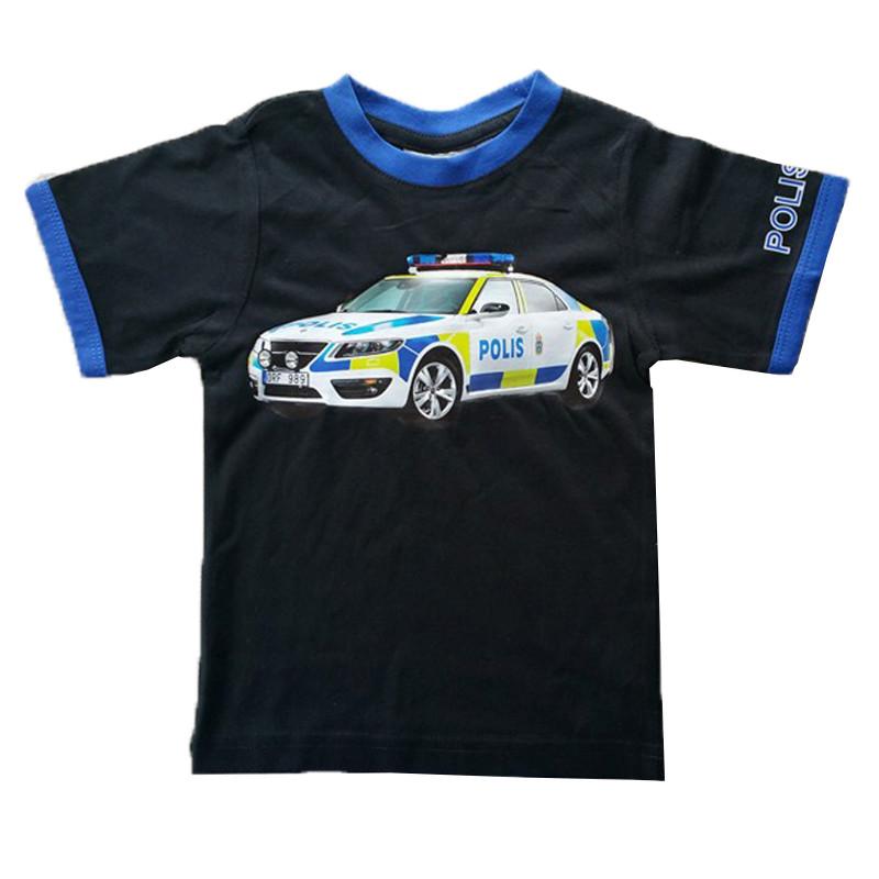 T-shirt med en polisbil motiv