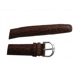 klock armband i äkta läder