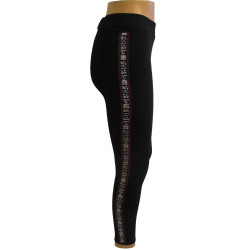 SVART LEGGINGS MED PARIS TEXT