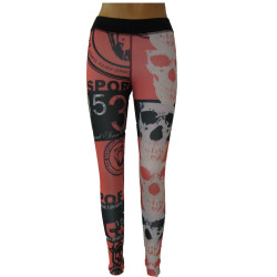 VITT SKULLMOTIV LEGGINGS