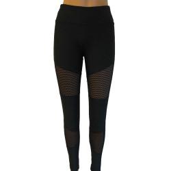 Trendiga leggings med nät på knät