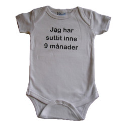 Baby bodys med texten JAG...