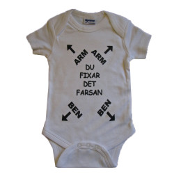 Baby bodys med texten ARM,...