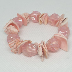 Snäckor armband med pärlor