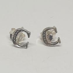 Bokstav C silver örhängen i...