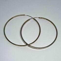 örhängen i silver-rund