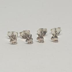 Örhängen i silver-kanin