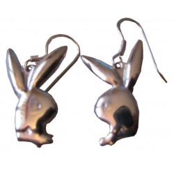 Playboy silverörhängen